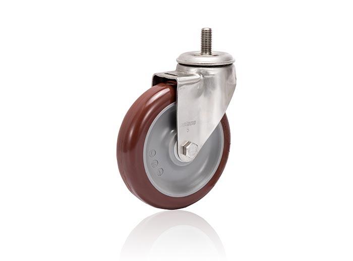 Stainless Steel Thread Stem Caster - Swivel
