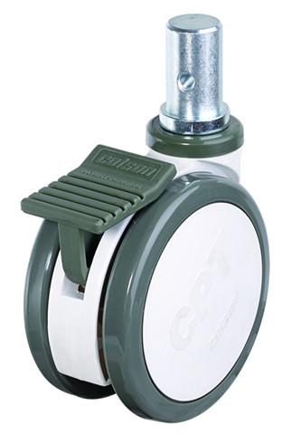 CPT Twin Wheel Caster - Round Stem